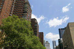 Living in Midtown Manhattan. New York City, USA - May 19, 2014: High buildings with Apartments and offices in midtown manhattan Stock Image