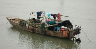 Free Living On A Sampan Royalty Free Stock Images - 4194709