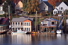 Living On The Water, Portland Oregon. Royalty Free Stock Photo