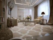 Living oriental style royalty free illustration