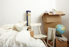 Living out of boxes Stock Photography