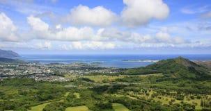 Living in paradise. Panorama shot of a Hawaiian coastal city Stock Photography