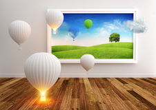 Living Picture - Balloons Royalty Free Stock Images