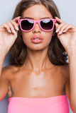 Living in a pink world. Royalty Free Stock Photo