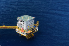 Living quarter of offshore oil rig Royalty Free Stock Photography