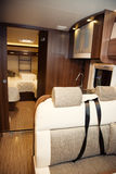Living Quarters in Luxury Motorhome Royalty Free Stock Images