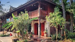 Living quarters in Xishuangbanna Dai Autonomous Prefecture royalty free stock images