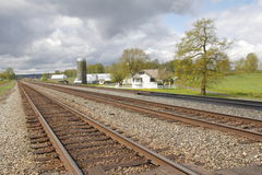 Living by the Railway Tracks Stock Image