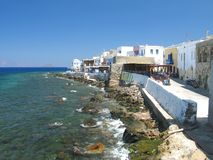 Living Right by the Sea. A view of Mandraki in Nisyros island, Greece royalty free stock image
