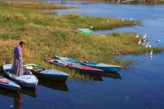 Living at river nile Stock Images