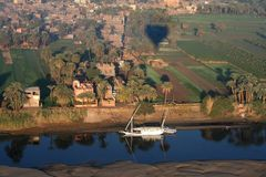 Living at river nile Stock Photos