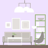 Living room – vector Illustration. Royalty Free Stock Images