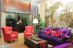 Living room. Interior of living room in chinese style Stock Images