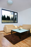 Living room. Modern decorated living room with brown carpet royalty free stock photography