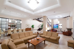 Living room. Of a new modern home Stock Images