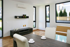 Living room. Ground floor apartment interior living room Royalty Free Stock Photography