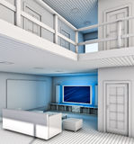 Living Room. Modern Living Room interior. Made in 3D Royalty Free Stock Photography
