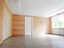Living Room. Big living room with wooden floor Stock Image