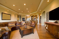 Living Room. Beautiful Living Room in Luxury Home stock image