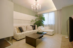 Living room. Simple decorating the living room Royalty Free Stock Images