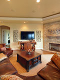 Living Room. Beautiful Living Room in Luxury Home royalty free stock photography