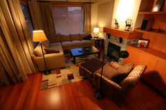 Living Room. A warm clean and uncluttered living room Stock Photography