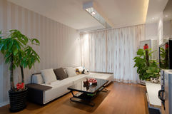 Living room. Simple decorating the living room Royalty Free Stock Photography