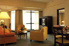 Living room. A living room of a hotel suite Stock Images