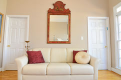 Living Room. A residential living room couch Royalty Free Stock Photo