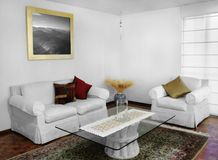 Living room. Interior shot of a comfy living room Royalty Free Stock Photos