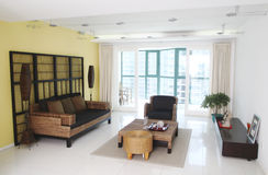 Living room. Panorama of a living room stock photography