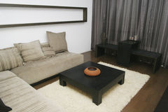 Living room. Japanese style living room with sofa and teatable Stock Photo