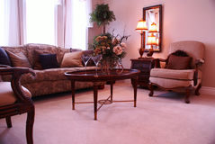 Living room. Design of a formal living room royalty free stock photography