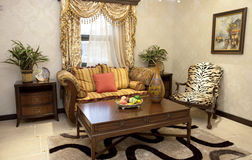 Living room. A nice suitable living room.American style Royalty Free Stock Photos