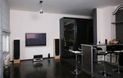 Living room. Modern living room dinner area Stock Photo