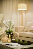 Living room. Morden living room in white Stock Images