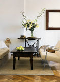 Living room. In natural colours royalty free stock image