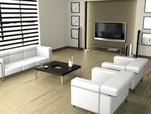 Living room 3D Stock Images