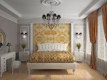Living room 3D. Modern interior of a living room  3D Stock Images
