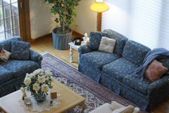 Living room. Traditionally decorated living room in upscale townhome Stock Image