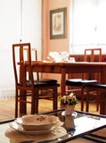 Living-room. A bright living-room with table and  chairs Royalty Free Stock Photo