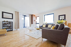 Living room. Modern living room/lounge with all luxury furniture Royalty Free Stock Image