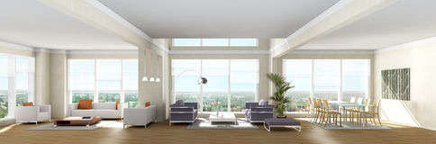 Living room. Illustration of a living room Stock Photography