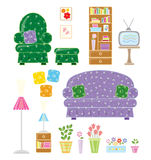 Living Room. Cute illustration of a living room Royalty Free Stock Image