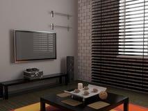 Living room. Modern interior of living room 3D Stock Images