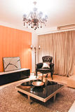 Living room. With lamp,table,rug,sofa Royalty Free Stock Photos