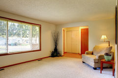 Living Room And Entrance Hallway Stock Photo