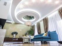 Living room. Apartmen living room, interior design and decoration Stock Photos