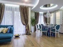 Living room. Apartment  living room interior design, furniture and decoration Stock Photos