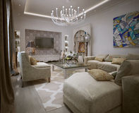 Living room Arabic style Royalty Free Stock Photo